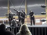 "ICWA-NWA France Army 9 - ICWA-NWA Tag Team Championship - Thierry Thierry (c) & Tyler Cage VS Pierre ""Booster"" Fotaine & Dark Mondo - Laventie (62) - 03/03/2012"