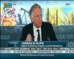 De Villepin - Bfmbusiness - politique eco