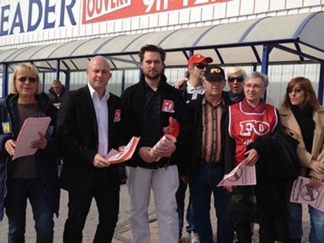 Action UDFO66 du dimanche 4 mars 2012 - Journée européenne contre le travail le dimanche