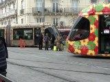 Tramways Montpellier:  Festival de trams Gare Saint Roch le 03 mars 2012