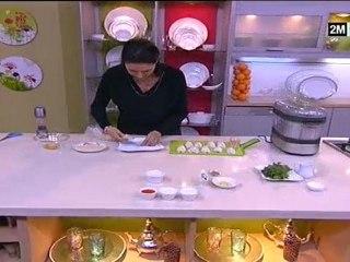 Choumicha - Soupe aux pois cassés, courgettes et Calamar farci