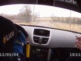 camera embarquée es 5 Rallye Avallonais 2012 JP MONNIN Franck GILLIOT 207 RC