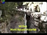 Extreme kayaking waterfall drop world record. Extreme kayaking