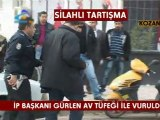 KOZAN TV_ SİLAHLI TARTIŞMA_İP BAŞKANI CEZMİ GÜRLEN AV TÜFEĞİ İLE VURULDU