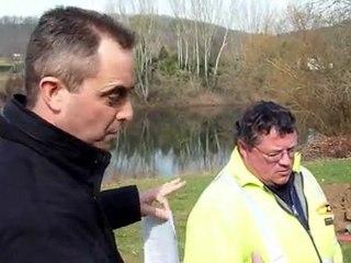 Forage dirigé sous la Dordogne à Port-Sainte-Foy-et-Ponchapt