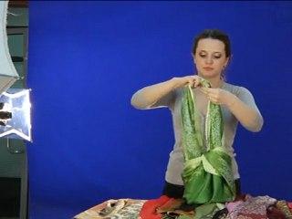Как лучше завязывать платок How To Tie a Shawl and Scarf