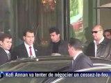 Syrie: Bachar al-Assad reçoit l'émissaire de l'ONU Kofi Annan