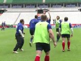 Rugby: entraînement du XV de France avant France-Angleterre