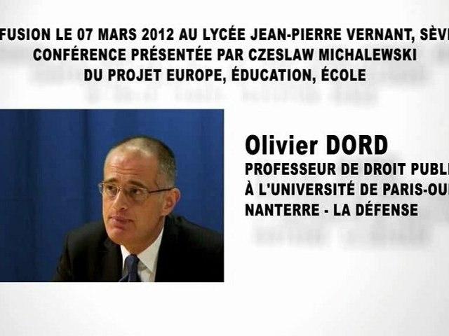La constitution de la République Française (1ère partie), Olivier DORD