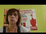 Marie-Jo Cermolacce du Front de Gauche pour des logements sociaux au Centre-ville de Marseille