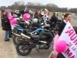 Toutes en Moto départ Château de Vincennes dimanche 11 mars 2012 Femmes solidaires Paris Lille Marseilles Lyon Bordeaux