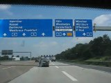 Francfort, Allemagne : autoroute vers Francfort