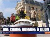 Chaîne humaine à Dijon, pour la sortie du nucléaire