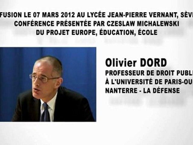 La constitution de la République Française (3e partie), Olivier DORD