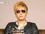 [Spanish Subs] GACKT - Message for 11th March at J-Melo (2012.03.12)