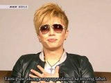 [Filipino Subs] GACKT - Message for 11th March at J-Melo (2012.03.12)