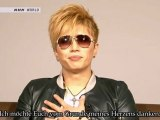 [German Subs] GACKT - Message for 11th March at J-Melo (2012.03.12)