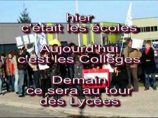 Collège de Chaussin - appel des parents à la mobilisation