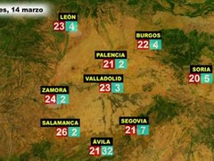 El tiempo en Espana por CCAA el martes 13 y miercoles 14 de
