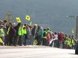 chaîne humaine anti-nucléaire de Lyon à Avignon 11 mars 2012, 1 an après Fukushima à Livron sur drome
