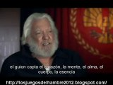 The Hunger Games cast interview Donald Sutherland subtitulos español