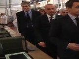 Nicolas Sarkozy visite l'usine Sagem Défense et Sécurité de Fougères