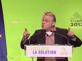 Meeting d'Europe Ecologie les Verts : Cohn-Bendit fait son show