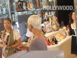 Eva Pigford Shopping on Robertson Blvd in Hollywood