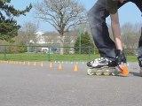 Slalom à Roller - entrainement