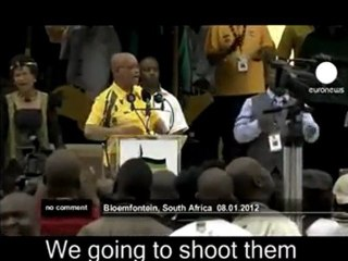 Jacob Zuma sings Kill the Boer at ANC Centenery Celebrations in Bloemfontein, South Africa