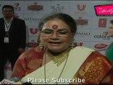 Popular Jazz Singer Usha Uthup At Red Carpet Of Global Indian Film Television Honors 2012 Awards