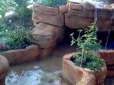 Yapay kaya şelale havuz