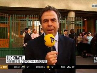 Luc Chatel sur iTélé - mardi 20 mars 2012