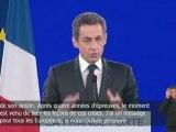 Le discours de Nicolas Sarkozy à Villepinte