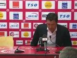Conférence de presse Stade de Reims - AS Nancy Lorraine : Hubert FOURNIER (SdR) - Jean  FERNANDEZ (ASNL) - saison 2012/2013