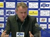 Conférence de presse SC Bastia - Paris Saint-Germain : Frédéric HANTZ (SCB) - Carlo ANCELOTTI (PSG) - saison 2012/2013