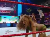 wwe raw - mickie james & kelly kelly & gail kim vs maryse & rosa mendes & alicia fox (13 07 2009)
