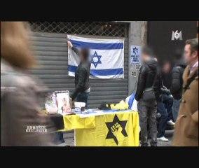 La LDJ dans le Marais à Paris (Meir Kahane)