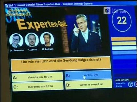 Die Harald Schmidt Show vom 15.03.2001