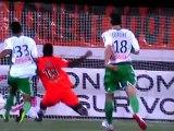 But Sunu avec Lorient contre l'ASSE