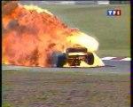 Formula 1 Argentine 1996 Huge crash Badoer + Huge fire Diniz
