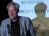Remise des prix et récompenses de l'académie d'architecture