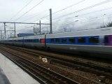 Passage d'un TGV POS à Vaires Torcy à destination de Strasbourg