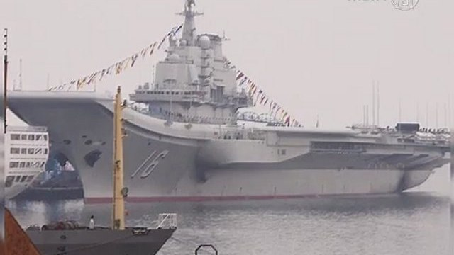 China Puts First Aircraft Carrier into Service