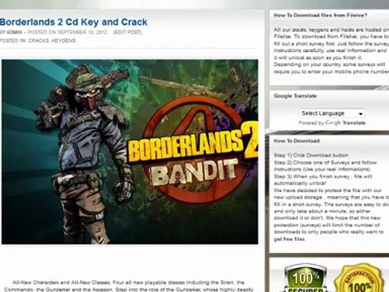 Borderlands 2 KEYGEN AND CRACK