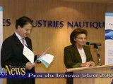 07/12/2006 - Prix du bateau bleu sur le Salon nautique de Paris 2006