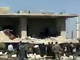 فري برس درعا الشيخ مسكين سقوط احد القذائف على منازل المدنين 21 3 2012 3