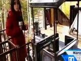 Reportage sur le train de la mine du Parque de Atracciones Madrid