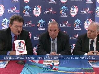 Annonce des matchs du Mondial 2013 - Rugby à 13