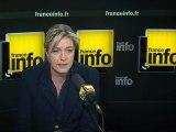 """Toulouse: pour Le Pen,  le gouvernement """"a peur"""" des réactions"""